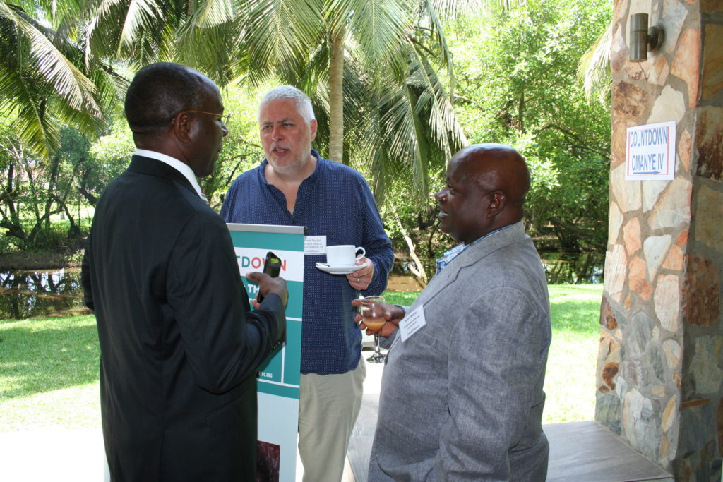 Prof tchuem Tchuente and Prof Wanji with Prof Mark Taylor from Liverpool School of Tropical Medicine